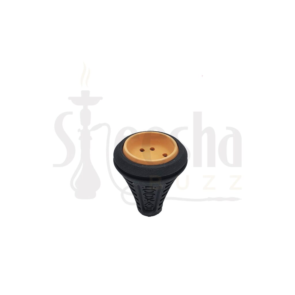 Buy Clay Shisha Head with Rubber Cover Black - Assorted Colours